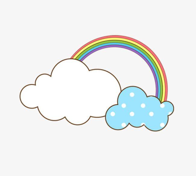Cartoon clouds rainbow. Cloud png clipart