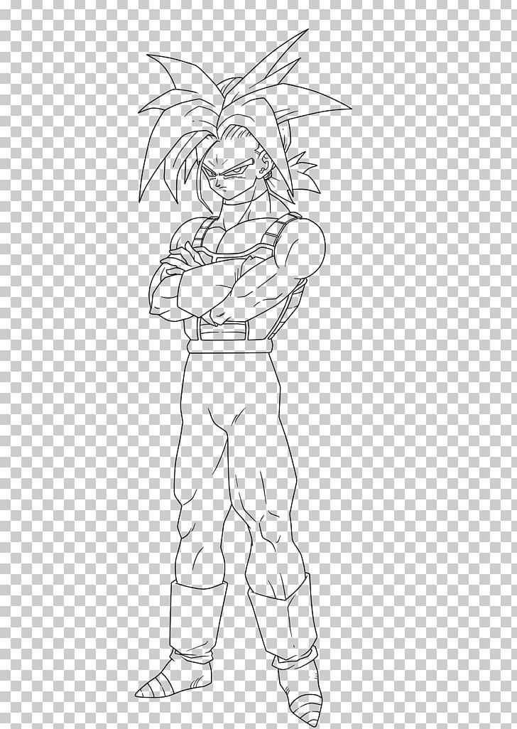 Trunks Goku Goten Gohan Sketch Png Clipart Angle Arm