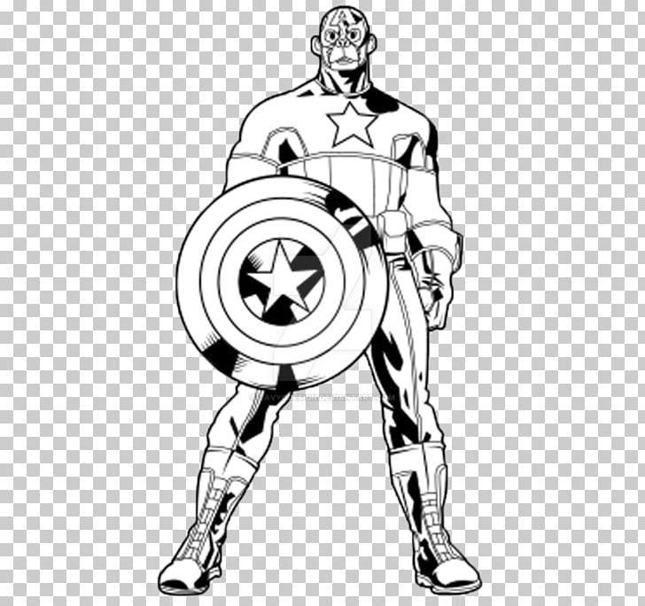 Captain America Fan Art Character Drawing Sketch PNG