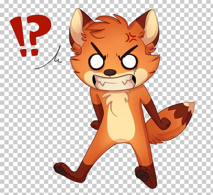 Fox angry. Red cat png clipart