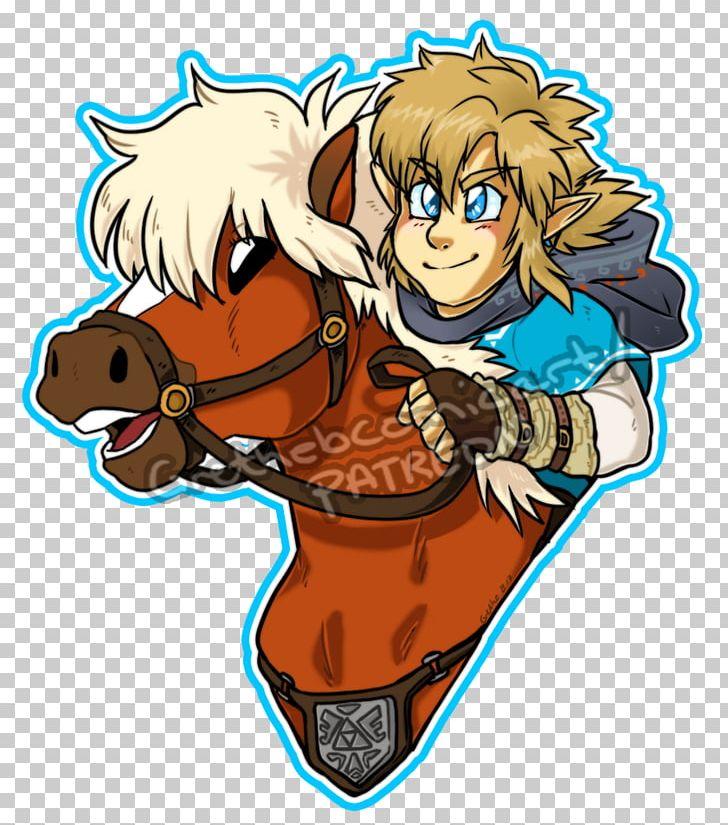 The Legend Of Zelda Breath Of The Wild Link Horse Epona Png