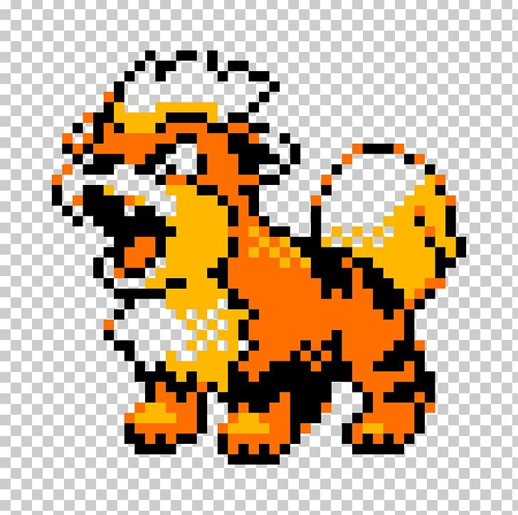 Pokémon Gold And Silver Pokémon Crystal Growlithe Pixel Art