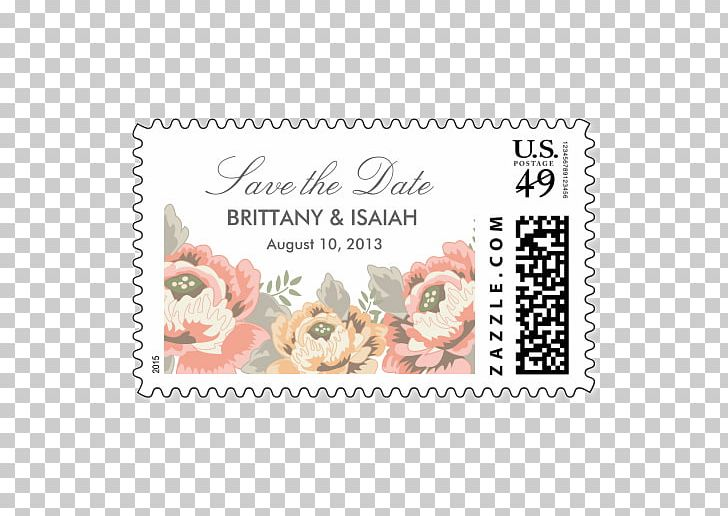 Wedding Invitation Paper Postage Stamps Mail Rubber Stamp