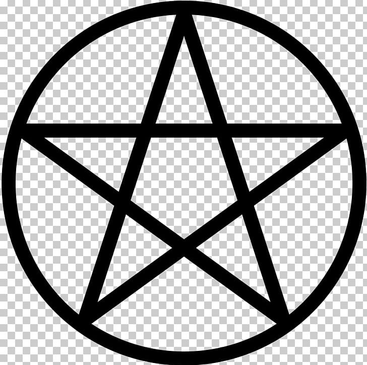 Pentacle Pentagram Wicca Paganism Witchcraft PNG, Clipart, Angle, Area, Black And White, Circle, Death Star Free PNG Download