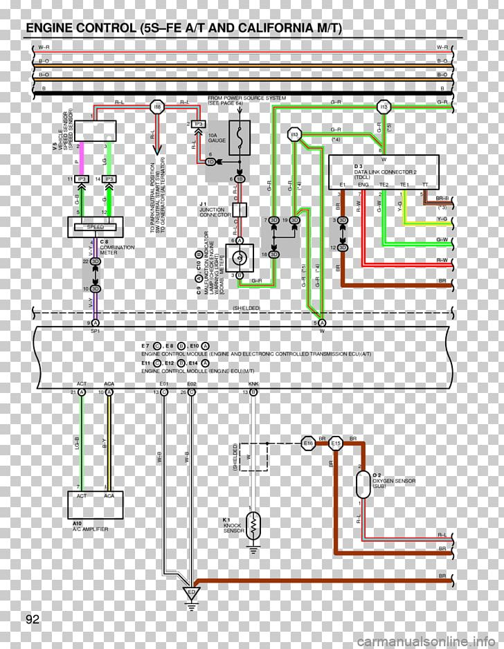1994 toyota camry diagram 1999 toyota camry electrical network png,  clipart, 1994 toyota camry,