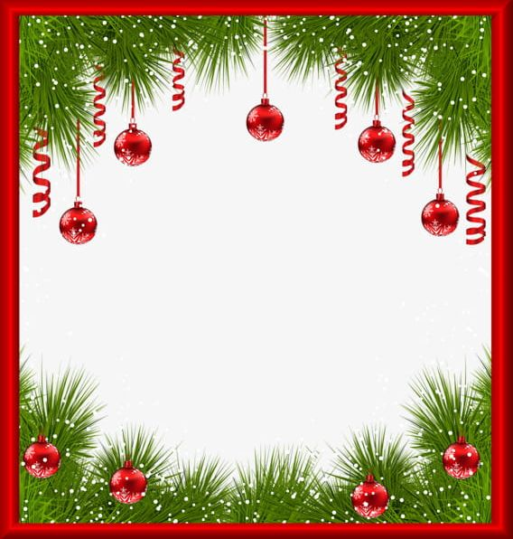 Christmas Card Border.Creative Christmas Cards Border Png Clipart Balls Border