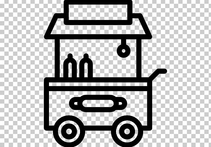 Hot Dog Cart Food Cart Street Food PNG, Clipart, Black And White