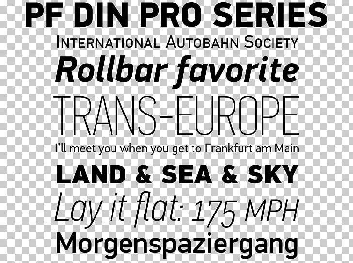 FF DIN Typeface DIN 1451 Deutsches Institut Für Normung Font