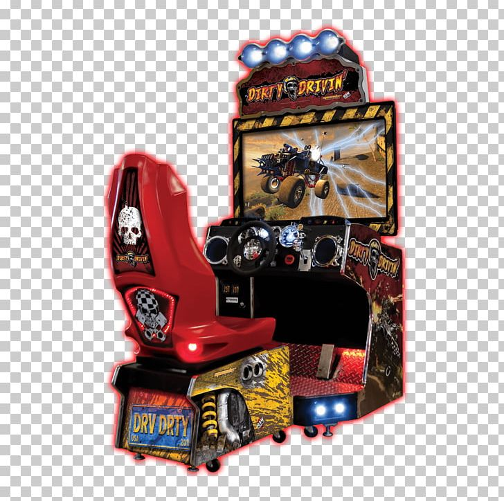 Dirty Drivin' H2Overdrive Arcade Game Racing Video Game Raw