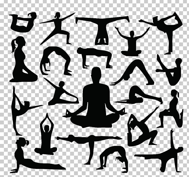 Silhouette Yoga Cdr Png Clipart Black And White Encapsulated Postscript Fitness Health Human Behavior Free Png