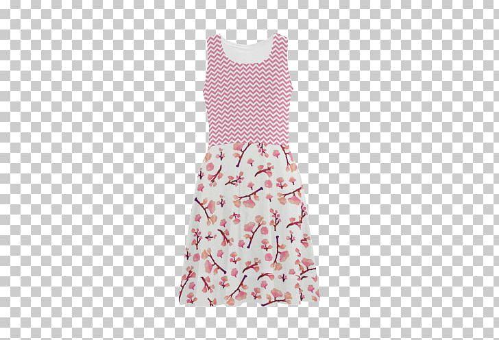 Polka Dot Backpack Sleeve Nightwear Pink Flowers PNG, Clipart, Backpack, Bag, Clothing, Day Dress, Dress Free PNG Download
