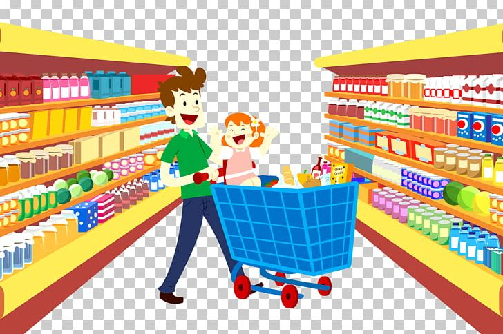 Grocery Store Supermarket Cartoon Shopping Bag Png Clipart Business Cart Cartoon Father And Daughter Cartoon Supermarket