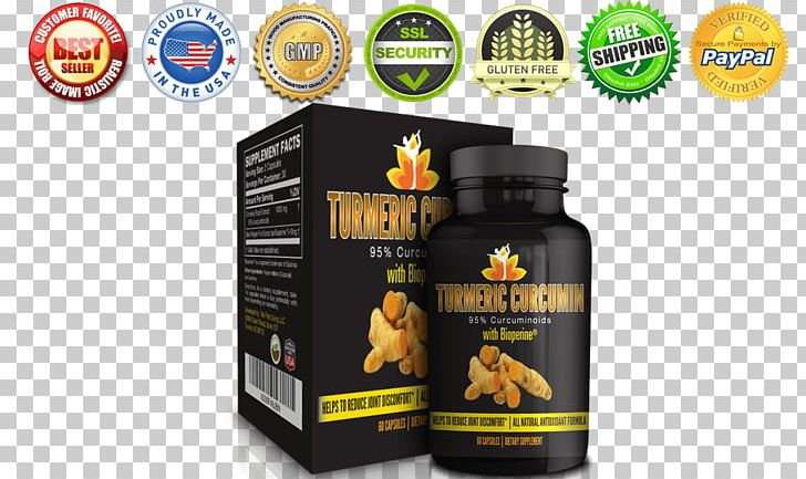 Turmeric Curcuminoid Dietary Supplement Piperine PNG, Clipart, Black