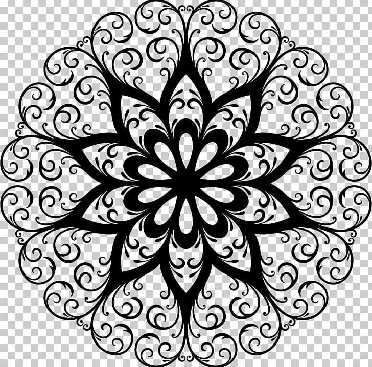 Kaleidoscope Decorative Arts Floral Design PNG, Clipart, Art, Artwork, Black And White, Circle, Color Free PNG Download