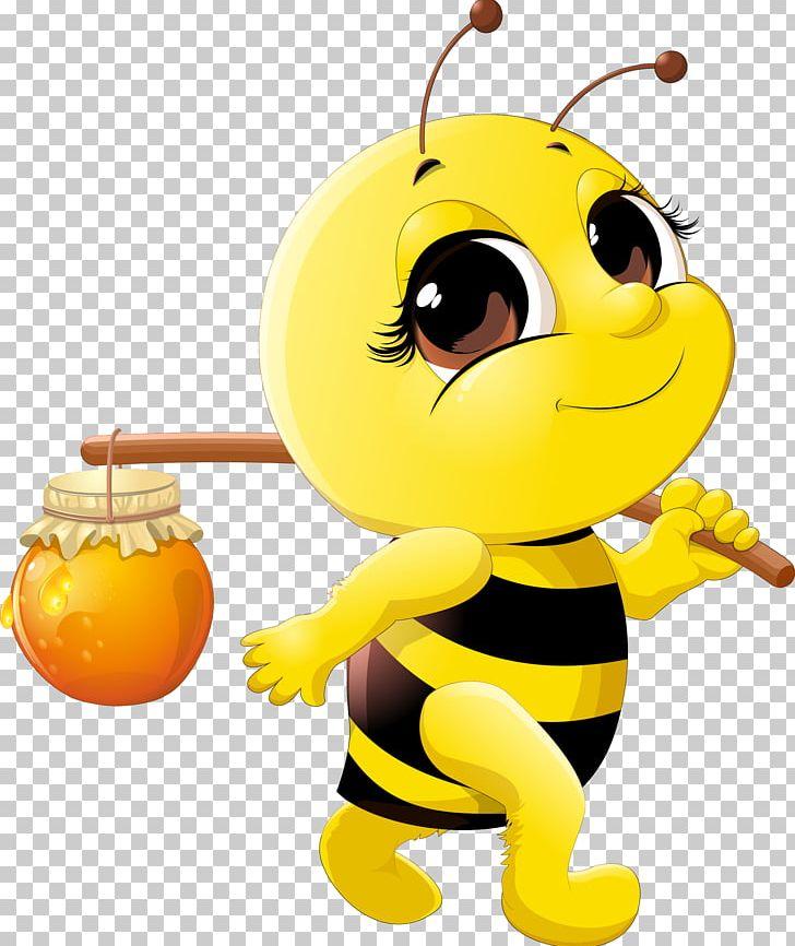 Honey Bee Cartoon Png Clipart Bee Beehive Bees Bumblebee Cartoon Free Png Download
