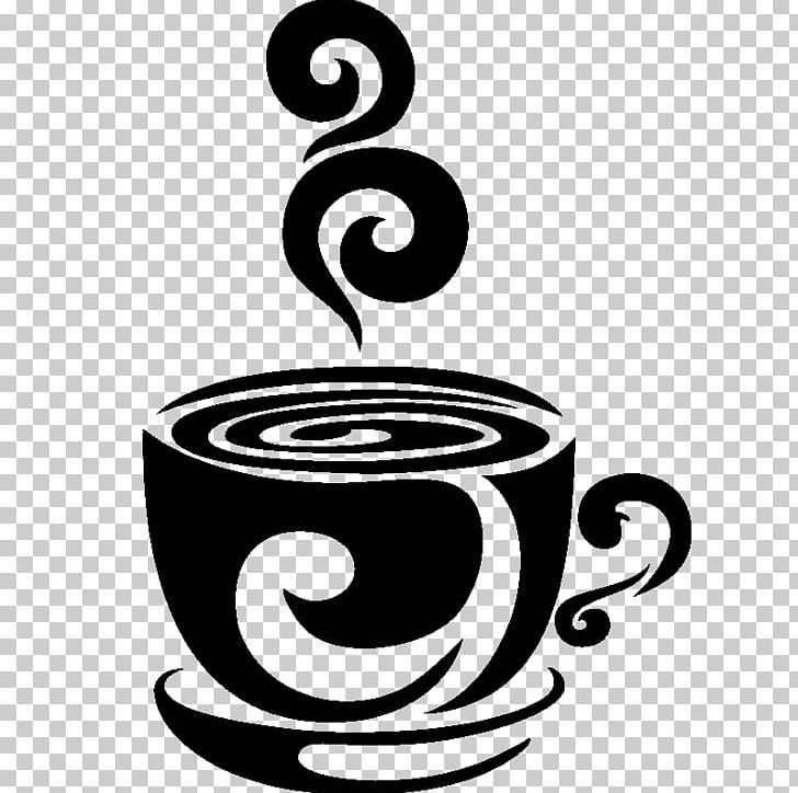 Coffee Cup Espresso Cafe Stencil PNG, Clipart, Artwork, Black And White, Circle, Coffee, Coffee Bean Free PNG Download