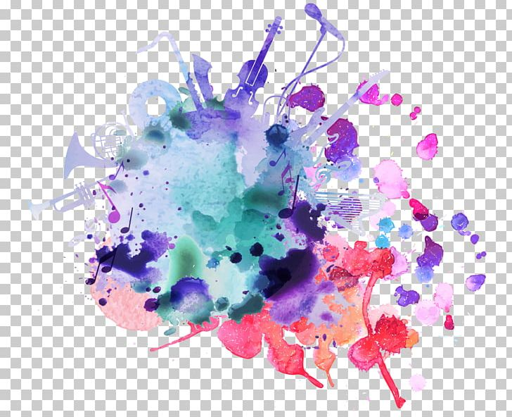 Watercolor Painting Music Festival Background Music PNG, Clipart, Brilliant, Circle, Color, Color Spray, Computer Wallpaper Free PNG Download