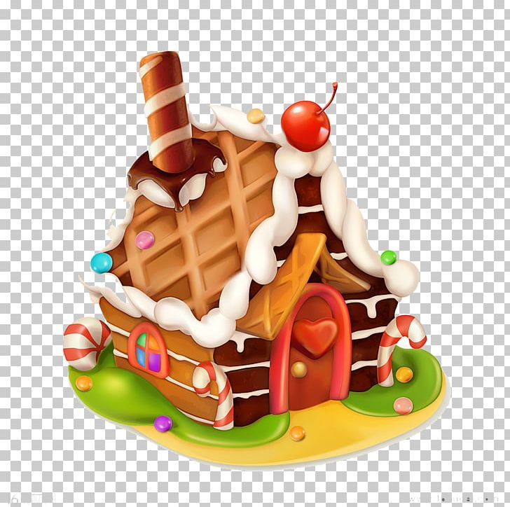 Gingerbread House Cupcake Icing Png Clipart Cake Cartoon