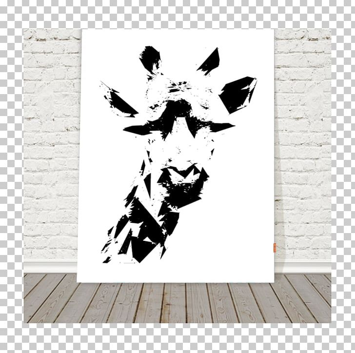 Giraffe Black And White Painting Art Tableau Png Clipart