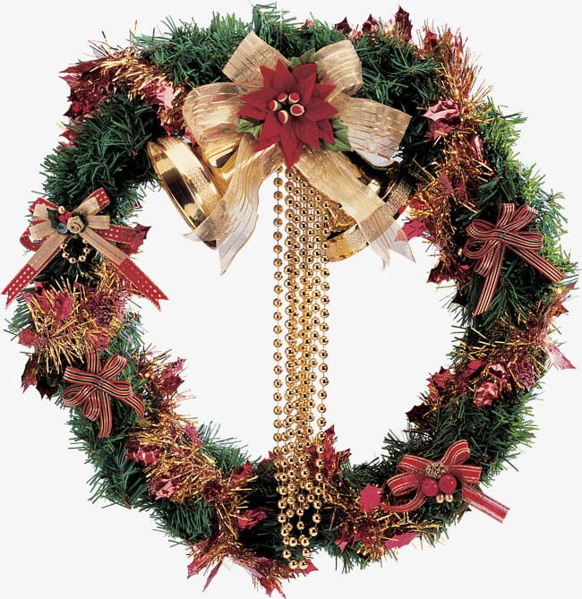Christmas Wreath Png.Christmas Wreath Png Clipart Bell Bow Christmas