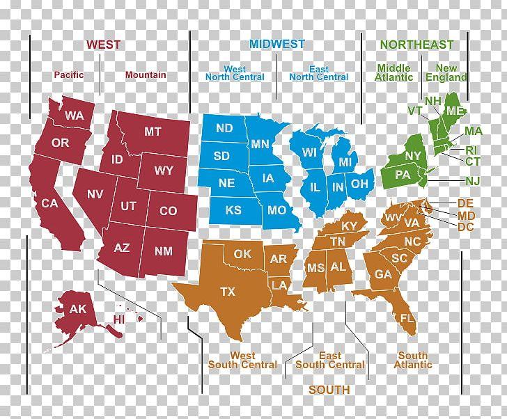 United States Of America United States Census Bureau Region ...