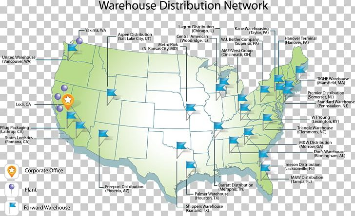 Distribution Network Map on