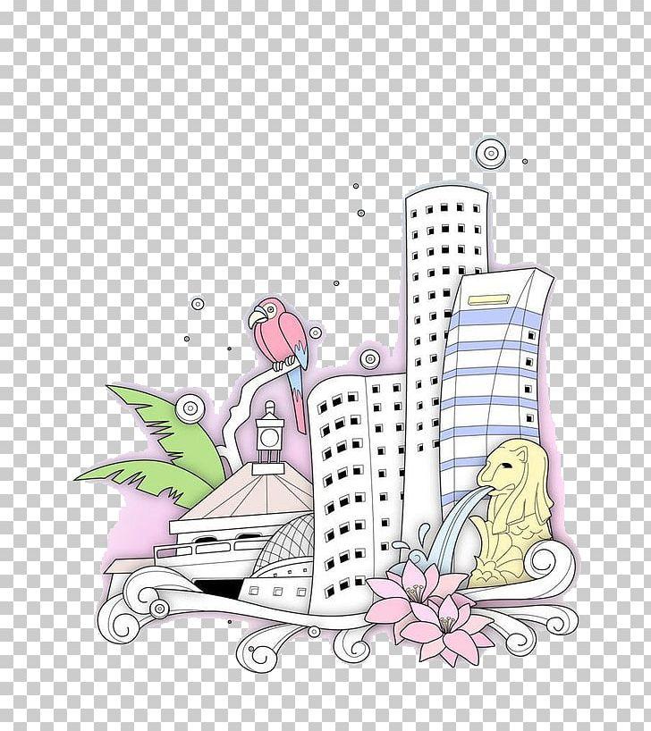 Singapore Tianshui Building Illustration PNG, Clipart, Apartment House, Art, Building, Cartoon, Cartoon House Free PNG Download