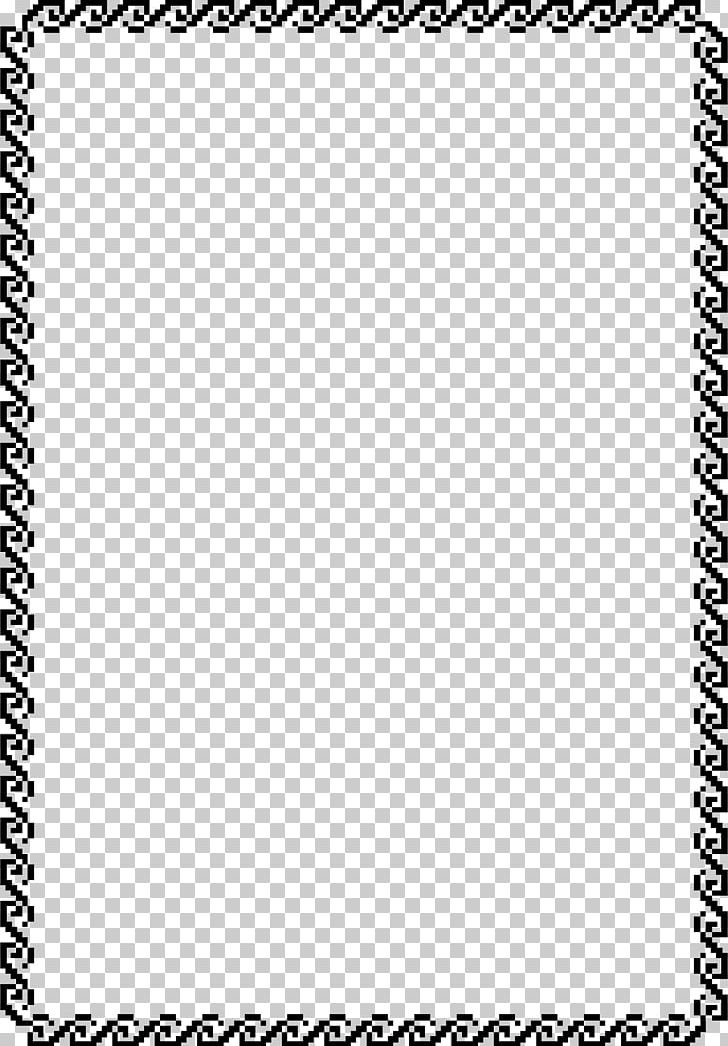 Borders And Frames Png Clipart Adobe Pagemaker Area Black Black And White Border Free Png Download