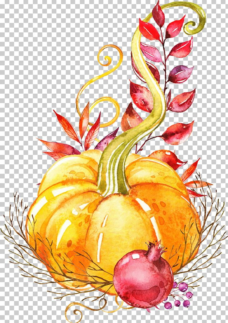 Pumpkin Autumn Vegetable Watercolor Painting Platter PNG, Clipart, Art, Branches, Diet Food, Element, Fall Free PNG Download