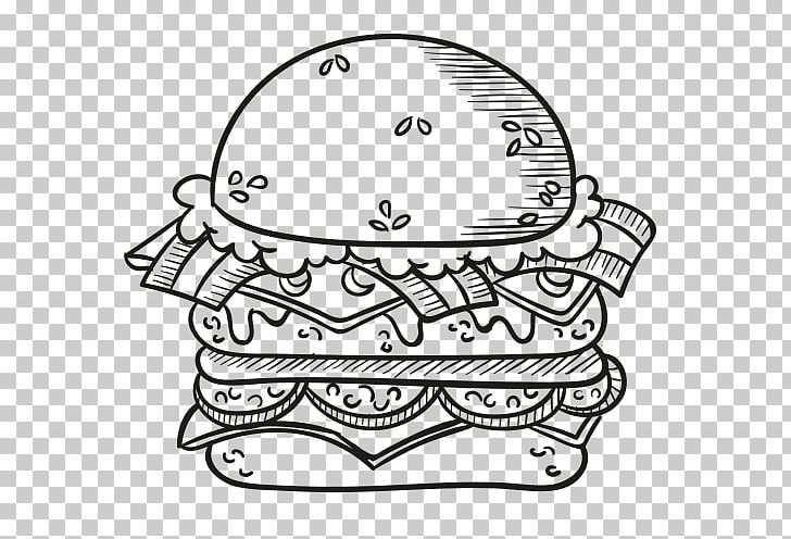 Hamburger Fast Food Hot Dog Calorie Png Clipart Black And White