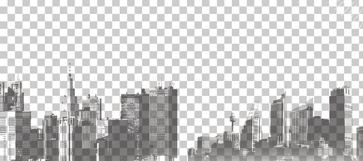 city landscape png black and white skyline skyscraper building png, clipart