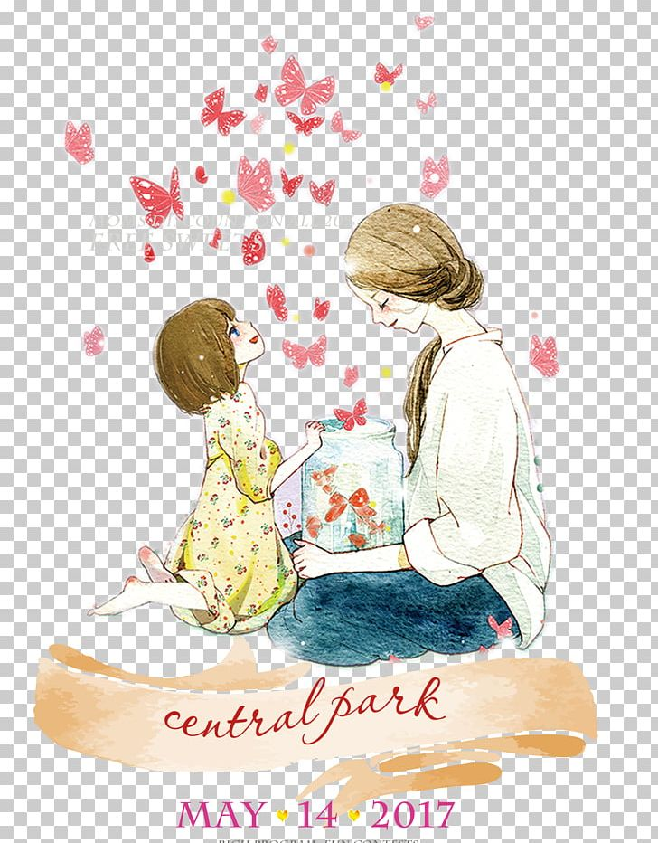 Mother's Day Illustration PNG, Clipart, Baby, Butterfly, Cartoon, Child, Childrens Day Free PNG Download