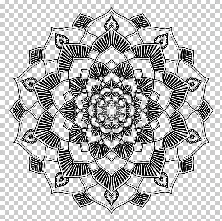 Mandala Coloring Book Line Art PNG, Clipart, Art Therapy ...