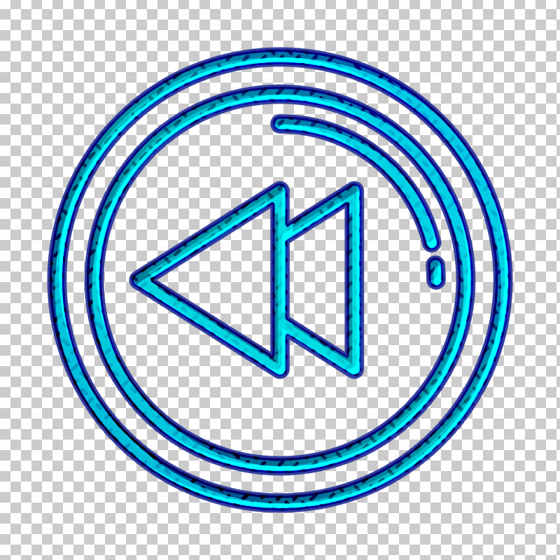 Movie  Film Icon Back Icon Backward Icon PNG, Clipart, Back Icon, Backward Icon, Circle, Electric Blue, Line Free PNG Download