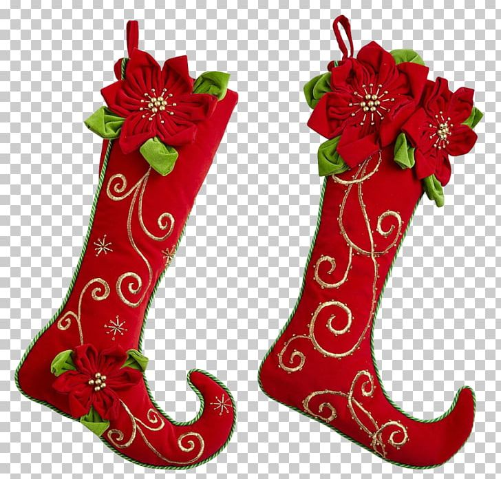 Christmas Stockings Santa Claus Sock Christmas Ornament Png Clipart