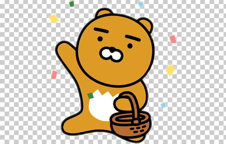 Kakaotalk Kakao Friends Sticker Png Clipart Artwork Bear