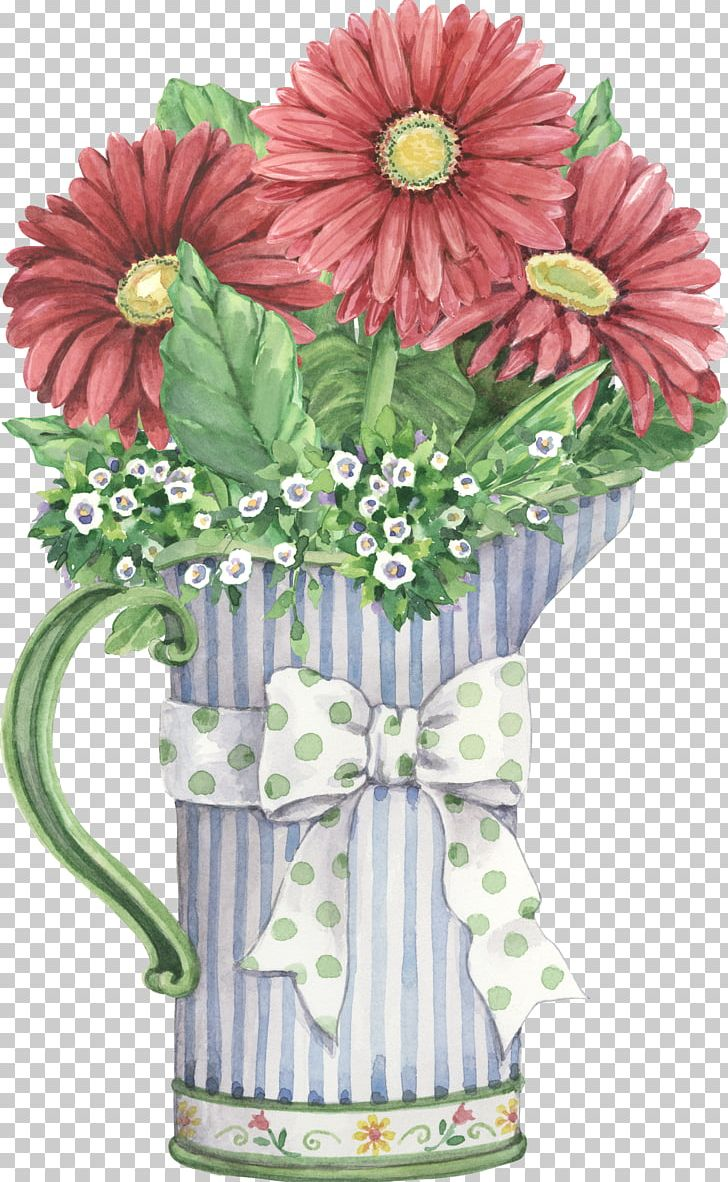 Flower Vase Painting Png Clipart Artificial Flower Bouquet Of Flowers Cut Flowers Daisy Family Drawing Free