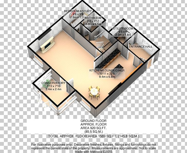 3d Floor Plan Open Plan House Png Clipart 3 D 3d Floor