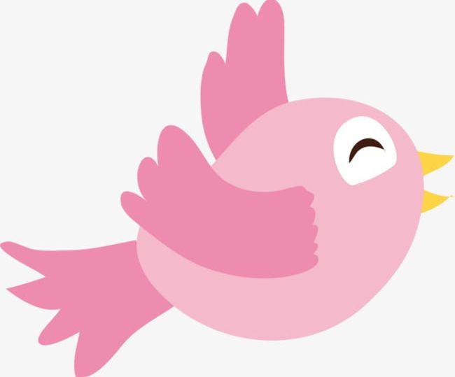Birds pink. Lovely bird png clipart