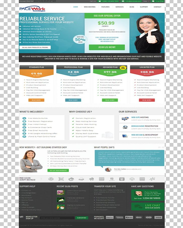 Responsive Web Design Web Page Web Hosting Service Web