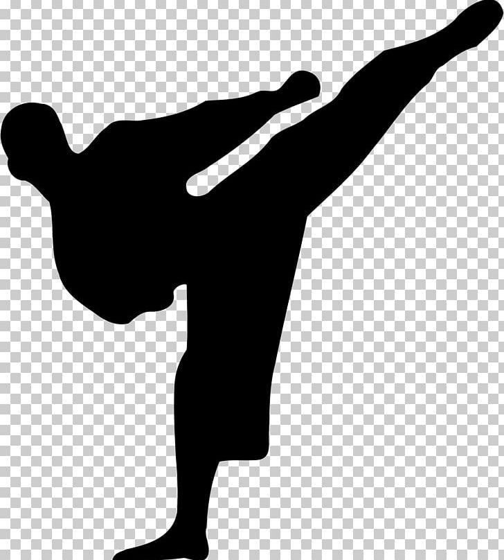 Karate Martial Arts Silhouette PNG, Clipart, Arm, Black And White, Clip Art, Finger, Hand Free PNG Download