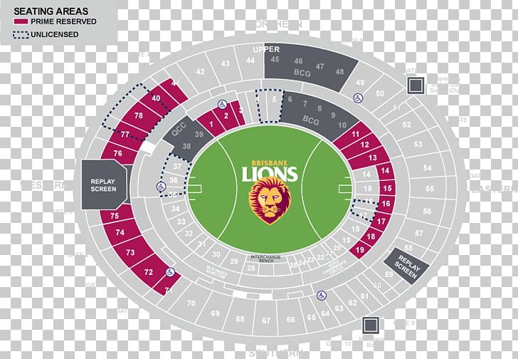 The Gabba Brisbane Lions Toyota Center Sports Venue Map PNG