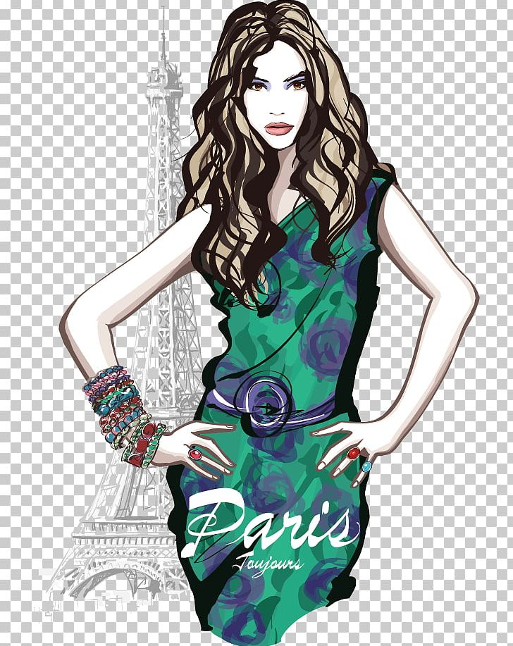 Paris French Fashion Model PNG, Clipart, Animal, Animation, Beauti, Black Hair, Cartoon Beauty Free PNG Download