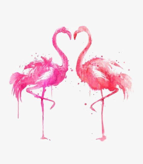 Ink Flamingos PNG, Clipart, Animal, Creative, Creative Love, Flamingo, Flamingo Illustration Free PNG Download