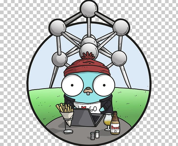 GopherCon 2018 Christmas Ornament Ball PNG, Clipart, Antwerpen, Ball, Belgium, Cartoon, Christmas Free PNG Download