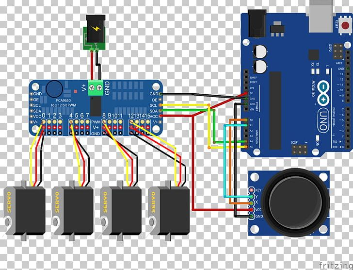 Arduino Fritzing Servomechanism Wiring Diagram H Bridge PNG