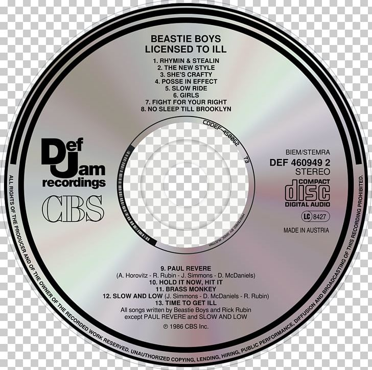 8f8e29b1 Compact Disc Licensed To Ill Beastie Boys Def Jam Recordings Music PNG,  Clipart, Album, Beastie, ...
