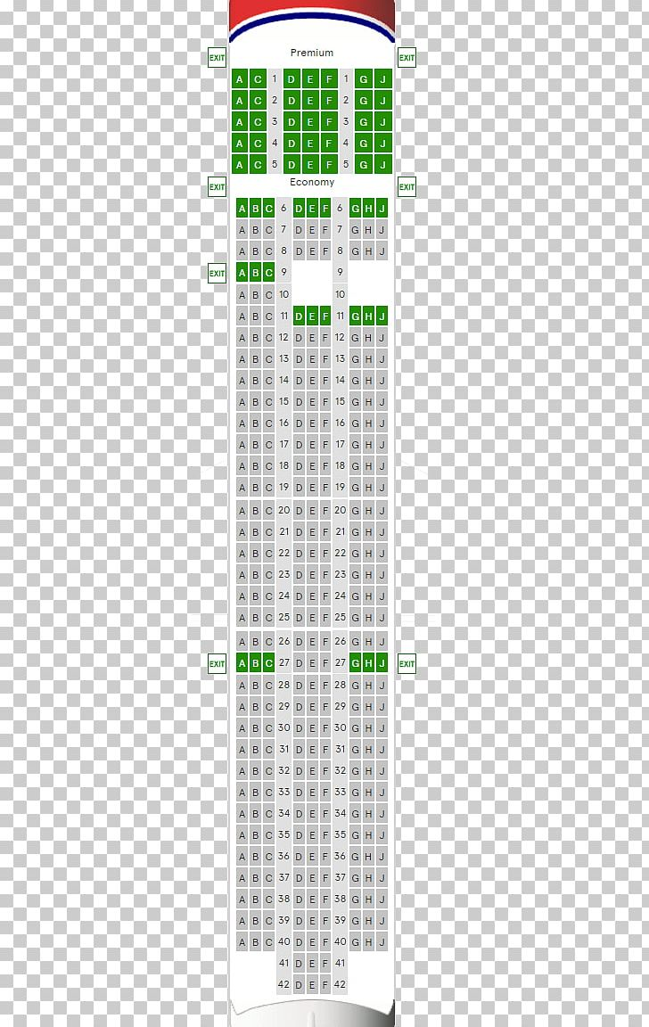 Boeing 787 Dreamliner Aircraft Seat Map Boeing 787-9 PNG