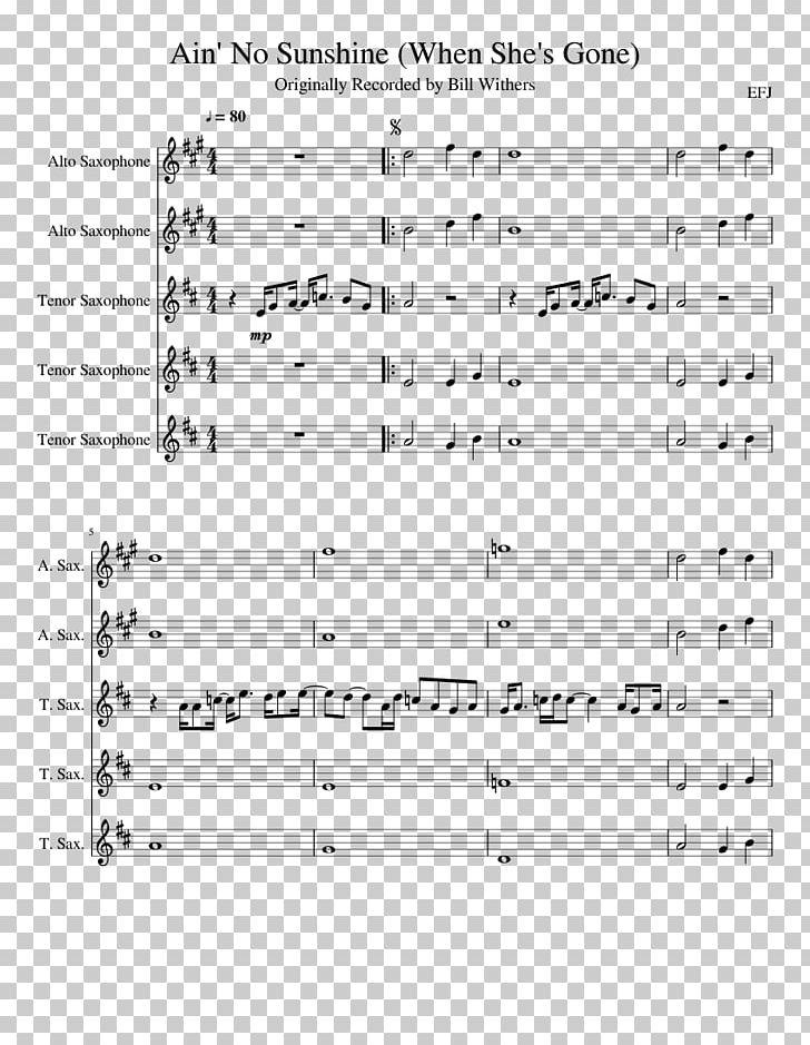 Saxophone Sheet Music Plus Trumpet Song PNG, Clipart, Alto Saxophone
