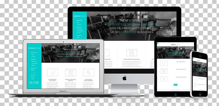 Responsive Web Design Web Development Website Wireframe PNG, Clipart, Brand, Communication, Display Advertising, Display Device, Electronics Free PNG Download